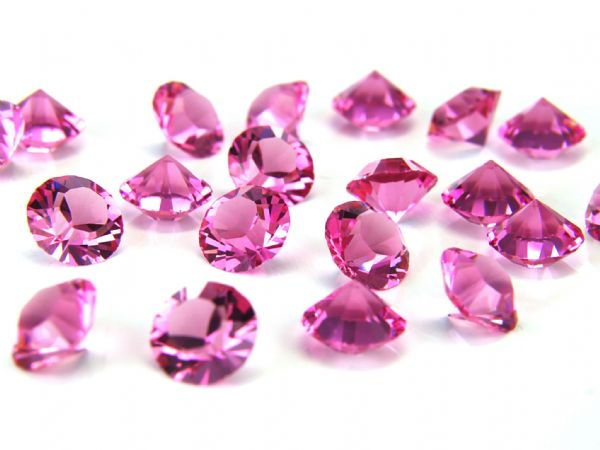 1088 UNFOILED Round Pointed Back Crystals, Rose